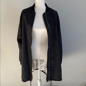 Extra Long Silky Black Jacket